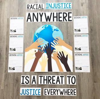 FREE Justice VS Injustice Bulletin Board & Student Activity