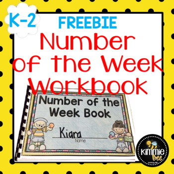 FREE K 1st 2nd Grade Number of the Week Book