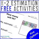 FREE Estimation Worksheets for K-2 {Great for Math Centers}