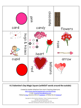 FREE Valentine's Day Vocabulary Center Game