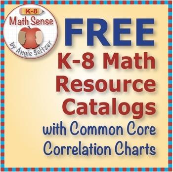 FREE K-8 MATH SENSE 2018 Resource Catalogs with Common Core Correlations