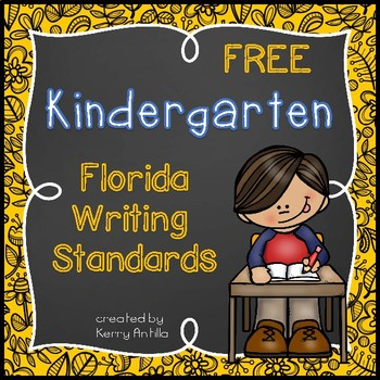 *FREE* Kindergarten Florida Writing Standards