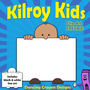 FREE Kids Clipart: Kilroy Style Kids Clip Art