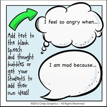 FREE Kids Feelings Face and Speech Bubble Clip Art - Chirp Graphics