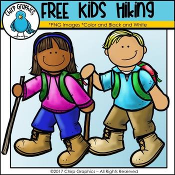FREE Kids Hiking Clip Art - Chirp Graphics