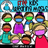 FREE Kids Wearing Masks Clip Art Set - Chirp Graphics
