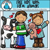 FREE Kids with Farm Animals Clip Art #kindnessnation - Chirp Graphics