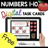 FREE Kindergarten Boom Cards™ - Apples Back to School - Math Ordering Numbers