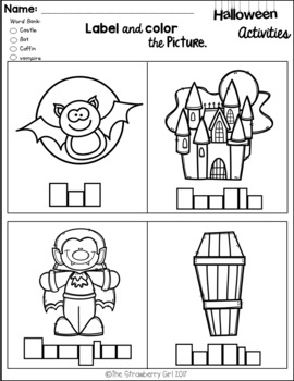 FREE Kindergarten Halloween Activities
