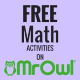 FREE Kindergarten Math Activities on MrOwl