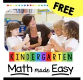 FREE Kindergarten Math Curriculum Map - Common Core Aligne
