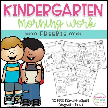 FREE Kindergarten Morning Work Printables