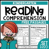FREE Kindergarten Reading Comprehension Passages - Set 2