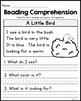 FREE Kindergarten Reading Comprehension Passages - Set 2