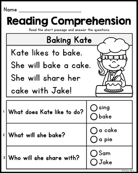 Gorgeous image with regard to free printable kindergarten reading worksheets
