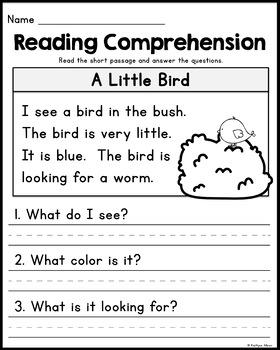 Homework for kindergarten