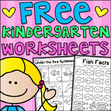 FREE Kindergarten Seasonal Worksheets - Math and Literacy