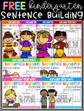 FREE Kindergarten Sentence Building