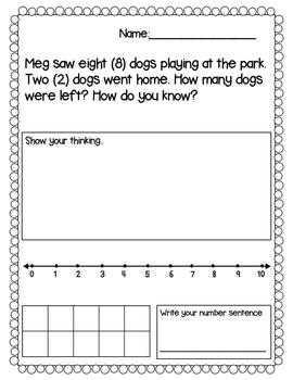 {FREE} Kindergarten Story Problem Sampler!