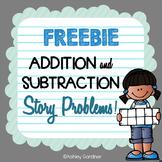 Story Problems for FREE {FREE Story Problems for Kindergarten!}