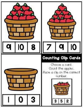 FREE Kindergarten Task Cards
