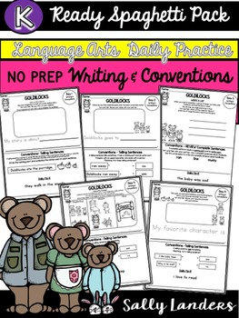 FREE Kindergarten Writing & Language Mini Lesson ~ Goldilocks & the 3 Bears