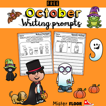 FREE Kindergarten Writing Prompts (October)