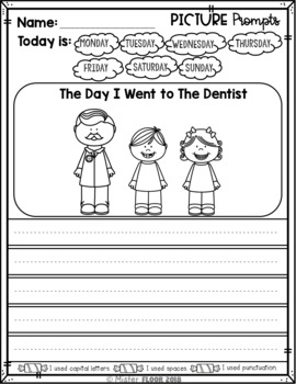 Free kindergarten writing prompts: opinion writing & picture.