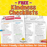 FREE Kindness Checklist - Printable for Students - US Letter