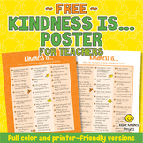 FREE Kindness Is... Acts of Kindness Poster for Teachers
