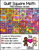FREE Kindness Math Art - Quilt Square