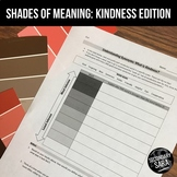 FREE Kindness Vocabulary Activity: Shades of Meaning & Quote Analysis