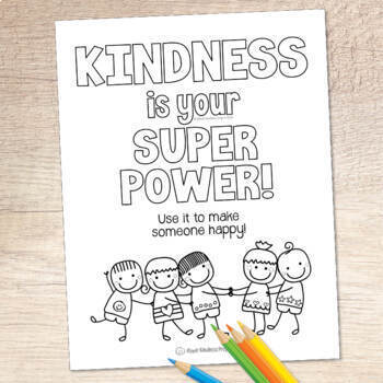 Free Kindness Is Your Superpower Coloring Pages Distance Learning