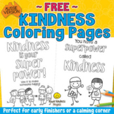 FREE Kindness is Your Superpower Colouring Pages - Distanc