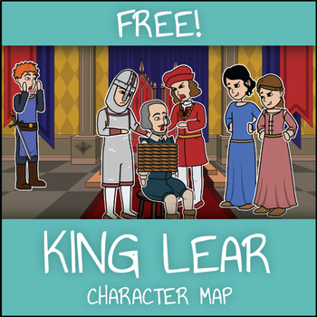 FREE King Lear Character Map Worksheet