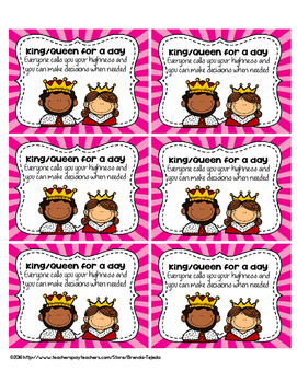 FREE King or Queen for a day Crowns and Reward Coupons