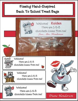 FREE Kissing Hand-Inspired Back To School Treat Bag Tags