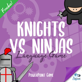 FREE Knights VS Ninjas - Reading & Speaking Language Game
