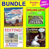 "FREE -  LANGUAGE ARTS II BUNDLE - Writing Prompts ""Presidents' Day"" (Gr. 3-7)"