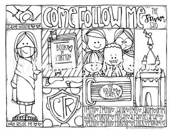 FREE LDS Coloring Page - Come Follow Me - by Melonheadz