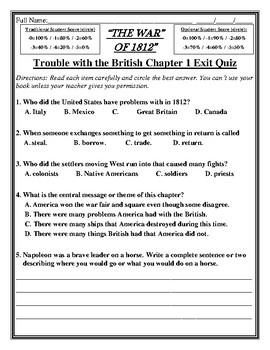 FREE LESSON! THE WAR OF 1812 Skills Strand Grade 2 Unit 6 Reader