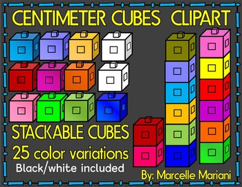 CENTIMETER CUBES MATH CLIP ART-COMMERCIAL USE
