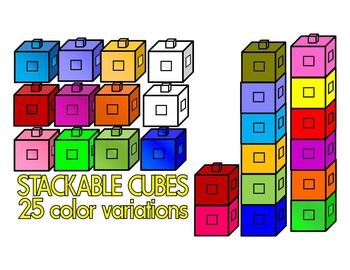 CENTIMETER CUBES MATH CLIP ART-COMMERCIAL USE