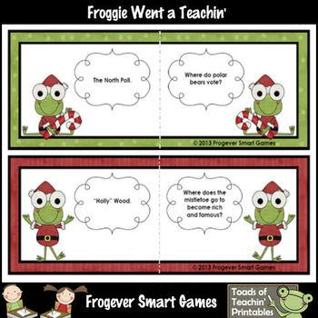 FREE LITERACY CENTER--Santa Froggie's Sleigh Full of Riddles Set I