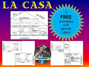 FREE!!!  La Casa / House with Spanish labels