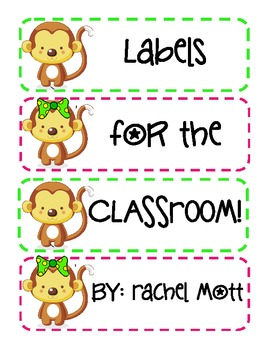 FREE Labels For The Classroom :)