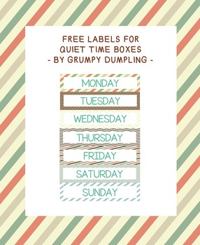 Labels for Quiet Time Boxes {FREEBIE}
