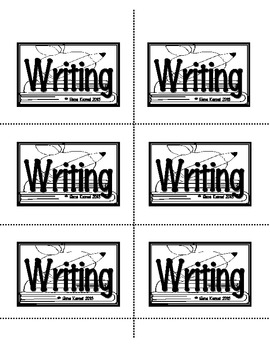 "FREE Labels for Student Tablets ""Writing"""