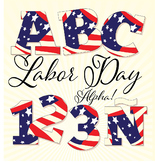 "FREE! Labor Day Alphabet 3.5"" 300 DPI  Vector and PNG"