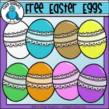 FREE Lace Easter Eggs Clip Art Set - Chirp Graphics